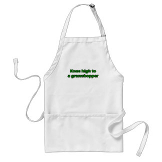 Knee high to a grasshopper adult apron