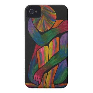 Knee Hugging Pop Art Portrait Case-Mate iPhone 4 Case