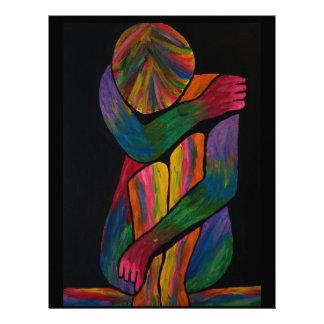 Knee Hugging Pop Art Portrait Letterhead