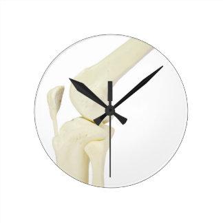 Knee joint model of human leg round clock