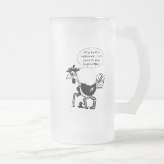 Knee Replacement Surgery - Fun Quote Frosted Glass Beer Mug