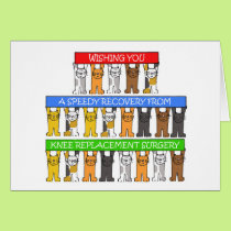 Knee replacement surgery recovery. card