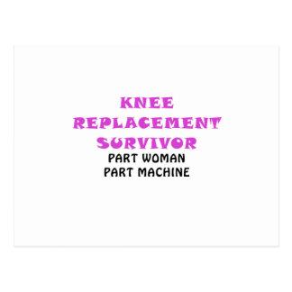 Knee Replacement Survivor Part Woman Part Machine Postcard