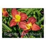 Knee Surgery Floral Get Well Soon Greeting Cards