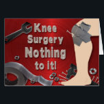 """KNEE SURGERY  GET WELL CARD - DUCT TAPE<br><div class=""""desc"""">DUCT TAPE AND BOLTS AND SCREWS HOLDING THE HIP TOGETHER... . THE OWNER OF A KN EE REPLACEMENT WILL CERTAINLY BE CHEERED UP WITH THIS CARD...  SEE ALSO FOR HIP SURGERY</div>"""