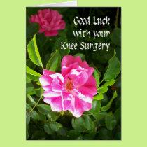 Knee Surgery Good Luck Card