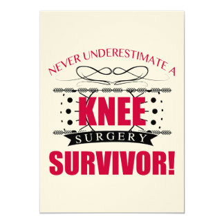 Knee Surgery Survivor Card
