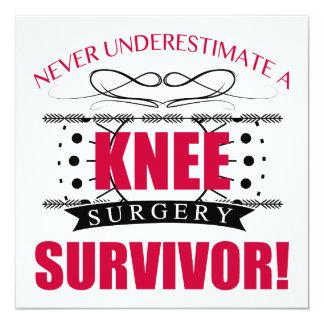 Knee Surgery Survivor Card