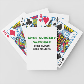 Knee Surgery Survivor Part Human Part Machine Bicycle Playing Cards