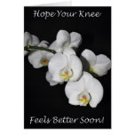 Knee Surgery White Orchid Cards