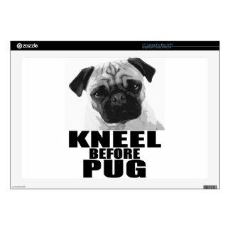 Kneel Before Pug Laptop Decals