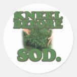 Kneel Before Sod Stickers