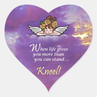 Kneel Heart Sticker