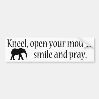 Kneel WFE Bumper Sticker