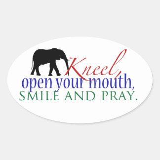 Kneel WFE Oval Sticker