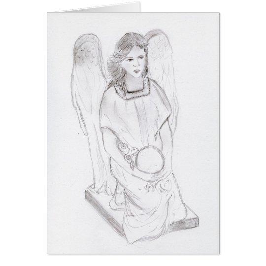 Kneeling Angel Card