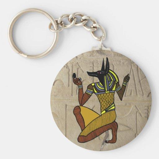 Kneeling Anubis Keychain