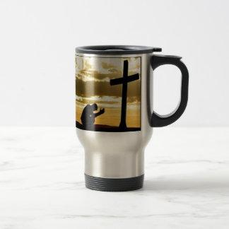 Kneeling At the Cross Travel Mug