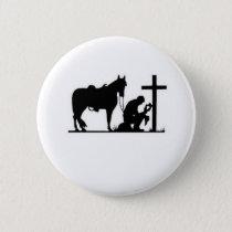 Kneeling Cowboy Button