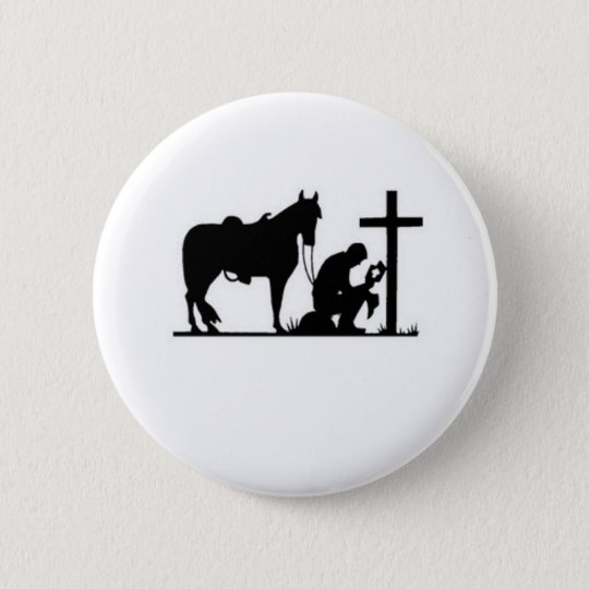 Kneeling Cowboy Button