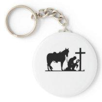 Kneeling Cowboy Keychain
