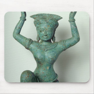Kneeling feminine figure  used to support a mouse pads