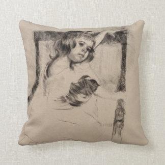 Kneeling in an Armchair by Mary Cassatt Pillow
