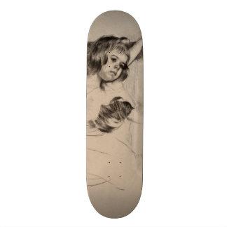 Kneeling in an Armchair by Mary Cassatt Skateboard