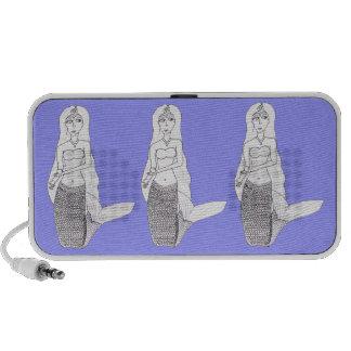 Kneeling Mermaid Notebook Speakers