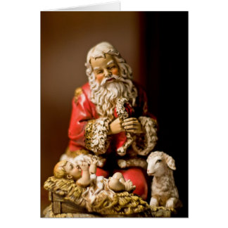 Kneeling Santa Card