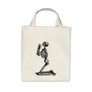 Kneeling Skeleton Tote Bag