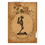 Kneeling Skeleton Card