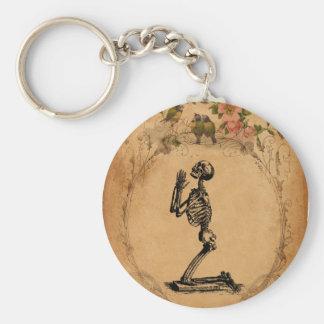 Kneeling Skeleton Keychain