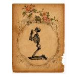 Kneeling Skeleton Postcard