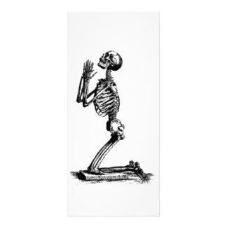 Kneeling Skeleton Rack Card