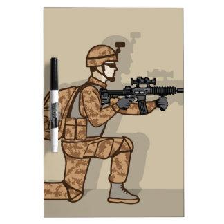 Kneeling Soldier Dry Erase Board