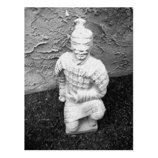 Kneeling Warrior Postcard