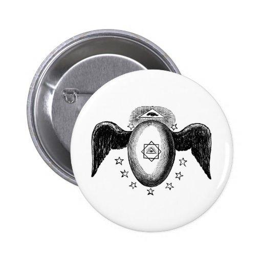 Kneph All Seeing Eye Masonic Symbol 2 Inch Round Button