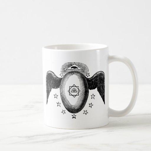 Kneph todo el símbolo masónico del ojo que ve taza clásica