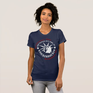 Knickerbocker White and Blue Logo T-Shirt