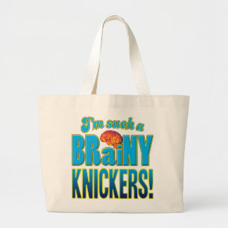 Knickers Brainy Brain Tote Bags