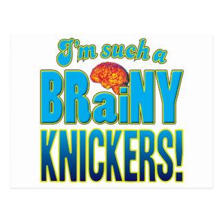 Knickers Brainy Brain Post Cards