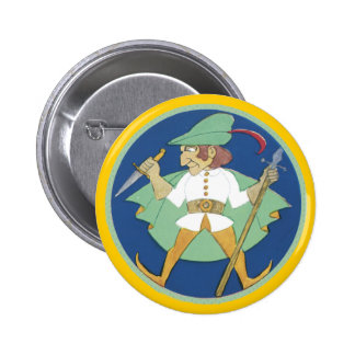 Knife and Dagger Pinback Button