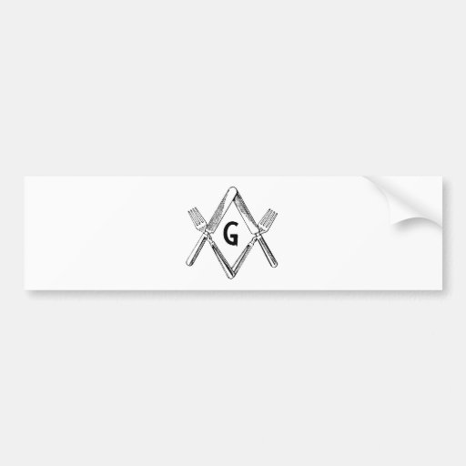 Knife and Fork Degree Bumper Sticker