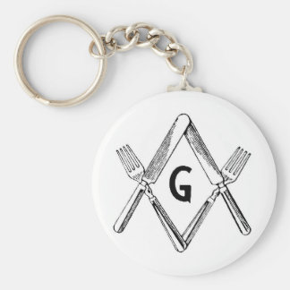 Knife and Fork Degree Keychain