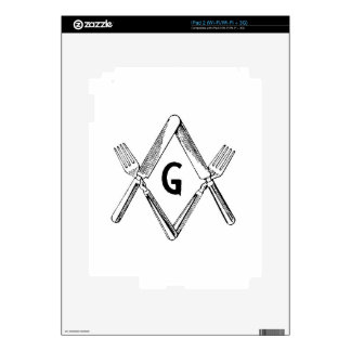 Knife and Fork Degree Decal For The iPad 2