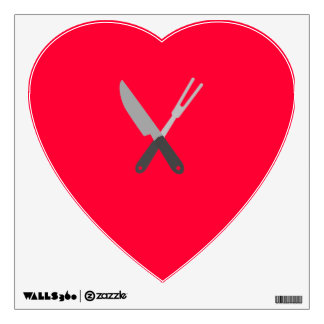 knife and fork wall decal