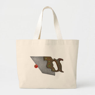 knife and tomato large tote bag