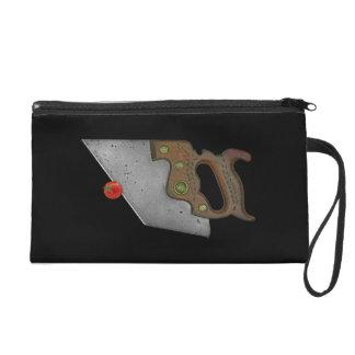 knife and tomato wristlet purse