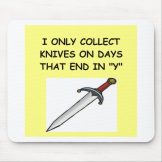 knife collector mouse pad